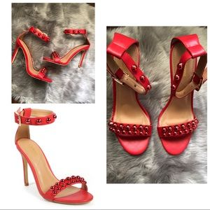 Crista Metallic Studded Sandal